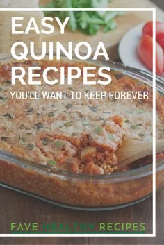 Healthy Quinoa Recipes | Cooking with quinoa doesn't get any healthier or more delicious than this!