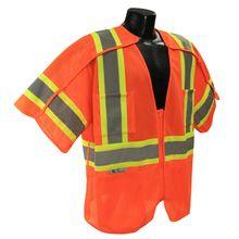 Radians Hi Vis Orange Breakaway Surveyor Vest Class 3 Vests, Safety, Thing 1, Orange, Security Guard