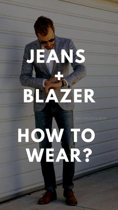 How to wear jeans and blazer outfit like a fashion blogger. #jeansandblazeroutfits #streetstyle