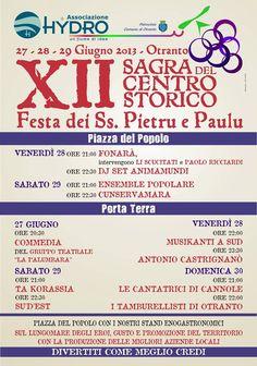 weekend di festa ad #Otranto con la XII #Sagra del Centro Storico, Festa dei SS. Pietro e Paolo...