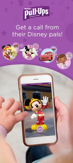Hello? It's your favorite Disney characters, calling to help with the start of your training adventure. Get a call now from Mickey Mouse, Minnie Mouse, Doc McStuffins or Lightning McQueen.