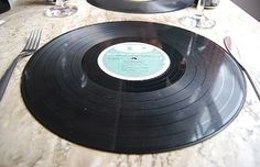 Records as place mats for a BUDDY themed party would be fun!