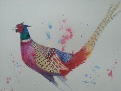 Pheasant watercolor (25x35) 08/2014