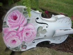 Hand painted Violin/Fiddle https://www.etsy.com/shop/CottageDesignStudio