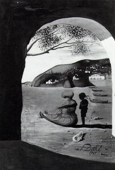 Salvador Dali - Mysterious Mouth Appearing in the Back of My Nurse, 1941 art