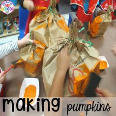 Pumpkin Patch Dramatic Play: How to set it up in your preschool, pre-k, tk, and kindergarten classroom All About Me Preschool, Fall Preschool Activities, Preschool Programs, Preschool Farm, Preschool Halloween, Preschool Curriculum, Dramatic Play Themes, Dramatic Play Centers, Kindergarten Classroom