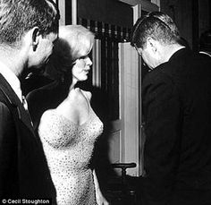 """The only known """"real"""" photo of JFK and Marilyn Monroe."""