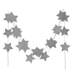 SUNBEAUTY 13Feet Five-pointed Star String Paper Garland H...