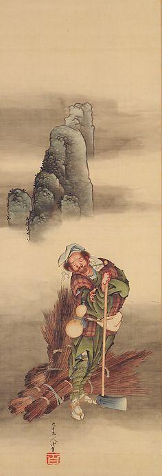 Woodcutter (1849) by Katsushika Hokusai [source]