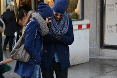 Cute couple in Munich Street Style: More on WFG's blog