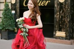 Red Wedding Dresses - The Wedding Dress Color Decision,Which Wedding Dress Colours Are Right for You? | itakeyou.co.uk #weddingdress #weddinggown #wedding