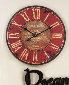 Red Wood Clock