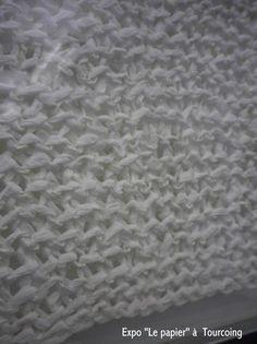 Le papier, ça se tricote - Les cahiers de Joséphine Josephine, Merino Wool Blanket, Crochet, Fiber, Textiles, Nursery School, Arts Plastiques, Bricolage, Paper