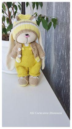 Crochet Bunny, Knit Crochet, Free Pattern, Crochet Patterns, Teddy Bear, Album, Knitting, Animals, Rabbits