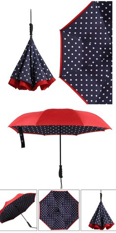Double Layer Inverted Inverted Umbrella Is Light And Sturdy Beautiful Abstract Grungebackgrpound Decorative Navy Blue Reverse Umbrella And Windproof