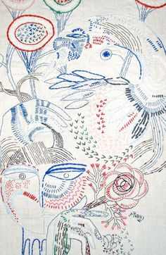 Petra Borner -SWAN-EMBROIDERY-(COMMISSION)