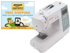 Singer 9340 Electronic Sewing Machine White for $259.99