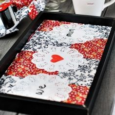 DIY tray using a floater photo frame - Mother's Day Gift Idea