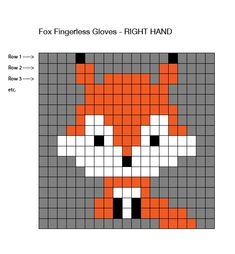 Two Needle Socks – Free Knitting Pattern Fingerless Gloves Crochet Pattern, Crochet Mittens, Knitted Gloves, Cross Stitching, Cross Stitch Embroidery, Cross Stitch Patterns, Pixel Pattern, Fox Pattern, Pattern Ideas