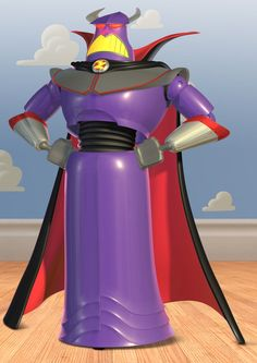 Evil Emperor Zurg (from Toy Story 2, 1999). Voiced by Andrew Stanton