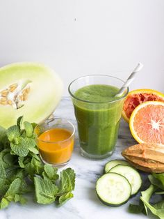 Honeydew, Cucumber, and Mint Smoothie
