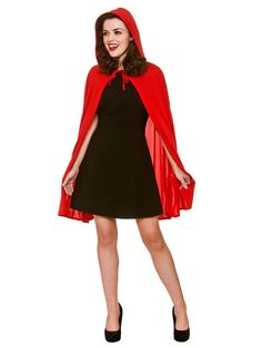 Fancy Dress Fast - Short Ladies Soft Red Riding Hood Cape & Hood Fairytale Cloak Fancy Dress New. Changes at busy periods may not be able to take place and your order will already be in process. We believe that buying online should bequick and easy. Wicked Costumes, Clever Halloween Costumes, Costumes For Sale, Theme Halloween, Adult Costumes, Costumes For Women, Fancy Dress, New Dress, Dress Up