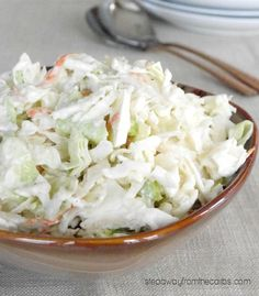Horseradish Coleslaw - a low carb side dish recipe 6 Guilt Free Keto Diet Friendly Side Dish Recipes Horseradish Coleslaw Recipe, Horseradish Recipes, Horseradish Sauce, Keto Cabbage Recipe, Cabbage Recipes, Cabbage Meals, Slaw Recipes, Vegetarian Meals, Low Carb