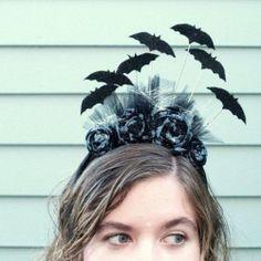 Create a fun batty headband for Halloween!