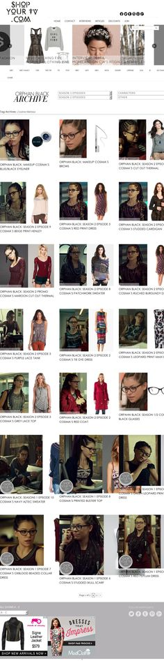 Cosima Niehaus of Orphan Black fashion items directory The website 'http://www.shopyourtv.com/tag/cosima-niehaus/' courtesy of @Pinstamatic (http://pinstamatic.com)