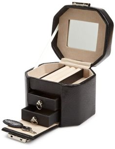 Wolf Designs Travel Mini Octagon Jewelry-Box