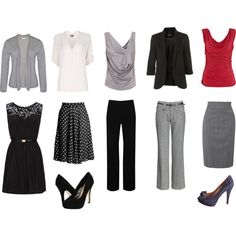 One week of travel business wear, - mix and match- created by ajwooters