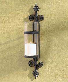 Look at this #zulilyfind! Scroll Candle Sconce #zulilyfinds