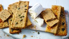 These wholemeal seeded crackers are fantastic topped with cheese or dipped in hummus.