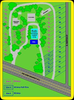 Route 1069 RV Park Layout Rockport Texas 25 Night 30 Amp