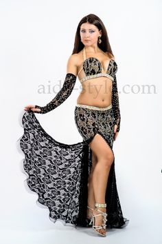 Elegant #black #bellydance dress for #sale #Aida Style Belly Dance Costumes
