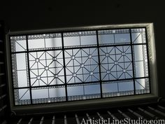 Overall view of the stained and leaded flat glass skylight system for a private recidence