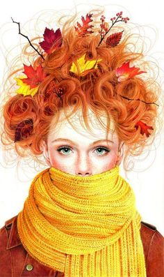 Redheads, when in doubt, always look to nature for fashion inspiration!