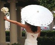 """""""Just Married"""" parasol"""
