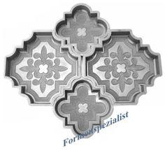 Gießform Schalungsform Nr.404 Orientplatten 10teilig Betonplatten Bodenplatten | eBay
