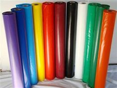 PE Flame Retardant Film- can be colored and is transparent. Used as dry cleaning bags