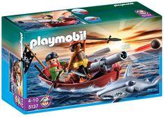 Playmobil - 5137 - Jeu de construction - Barque des pirates avec requin-marteau: Amazon.fr: Jeux et Jouets