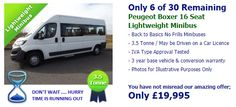 Don't miss out on getting a Brand New Peugeot Boxer 16 Seat Lightweight 3.5 Tonne Minibus for under £20,000!