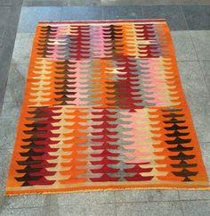 "49""x65"" 167x125cm Handmade vintage oriental Kilim Rug"