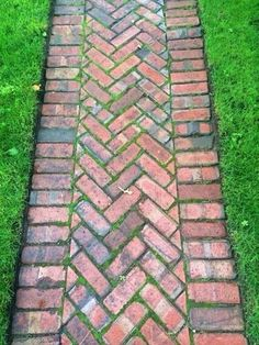 collecting of interesting and creative garden path design ideas provides great inspirations for improving yard landscaping and garden design Brick Pathway, Brick Garden, Garden Paths, Red Brick Paving, Path Design, Landscape Design, Garden Design, Design Ideas, Landscape Bricks