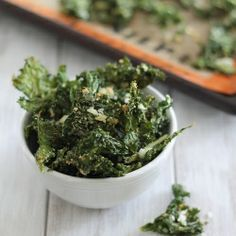 Coconut Garlic Kale Chips. Healthy snacking at it's best.