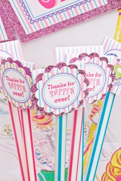 Mary Poppins Vintage Party tags