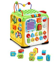 Buy Ultimate Alphabet Activity Cube - English Edition for CAD Toys R Us, All Toys, Vtech Activity Cube, Cubes, Finger, Colorful Animals, Letter Recognition, Alphabet Activities, Color Shapes