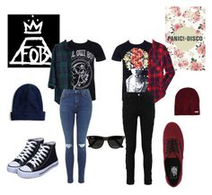 Panic! At The FOB by anna-precious on Polyvore featuring polyvore fashion style Aéropostale Madewell Vans J.Crew Neff Ray-Ban women's clothing women's fashion women female woman misses juniors