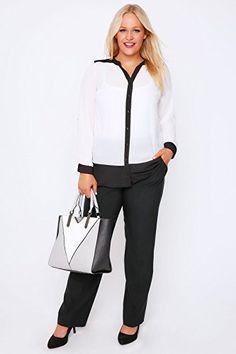 591141376cf British Fashion Bug Women Plus Size Womens Classic Straight Leg Trousers  With Pockets  British