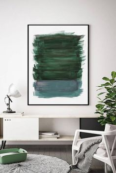 Abstract Green And Teal Painting Forest Green Painting Green Print Teal Art Blue Green Art Contemporary Large Wall Art Minimal - Painting Art Blue, Green Art, Blue Green, Green Wall Art, Color Blue, Metal Tree Wall Art, Large Wall Art, Large Art, Art Vert